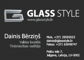 Glassstyle businesscard