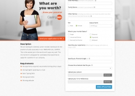 Job offer signup form