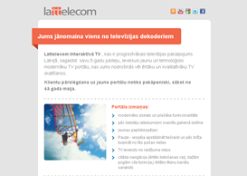 Lattelecom Email Template 2