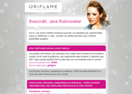 Oriflame Email Template